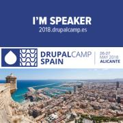 I am speaker DrupalCamp Alicante 2018